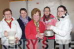 TEA LADIES: Keeping the public who attended the Abbeydorney Ploughing competition in Abbeydorney on Sunday with Teas anmd Coffee, L-r: Eileen and Rose McCarthy, mary McKenna, Hannah and Eveleen McCarthy............. ....