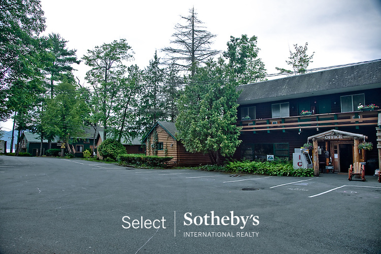 Blue Water Manor,waterfront motel, Cabins, and restaurant, 4436 Lake Shore Drive, Bolton Landing, NY 12814.  Offered for sale by Select Sothebys International Realty [http://www.selectsothebysrealty.com] Broker/Owner John Burke.