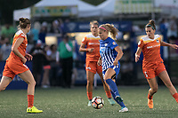 Boston, MA - Wednesday August 16, 2017: Rosie White, Cari Roccaro during a regular season National Women's Soccer League (NWSL) match between the Boston Breakers and the Houston Dash at Jordan Field.