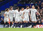 PSG's Adrien Rabiot (second left) celebrates scoring his sides opening goal<br /> <br /> - UEFA Champions League - Chelsea vs Paris Saint Germain - Stamford Bridge - London - England - 9th March 2016 - Pic David Klein/Sportimage