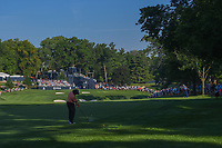Pat Perez (USA) hits his approach shot on 10 during 1st round of the 100th PGA Championship at Bellerive Country Club, St. Louis, Missouri. 8/9/2018.<br /> Picture: Golffile | Ken Murray<br /> <br /> All photo usage must carry mandatory copyright credit (© Golffile | Ken Murray)