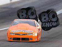 Oct 28, 2016; Las Vegas, NV, USA; NHRA pro stock driver Bo Butner during qualifying for the Toyota Nationals at The Strip at Las Vegas Motor Speedway. Mandatory Credit: Mark J. Rebilas-USA TODAY Sports