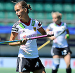 The Hague, Netherlands, June 13: Jana Teschke #4 of Germany looks on during the field hockey placement match (Women - Place 7th/8th) between Korea and Germany on June 13, 2014 during the World Cup 2014 at Kyocera Stadium in The Hague, Netherlands. Final score 4-2 (2-0)  (Photo by Dirk Markgraf / www.265-images.com) *** Local caption ***