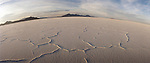 Silver Reef mountains in the distance at the Bonneville Salt Flats, Utah