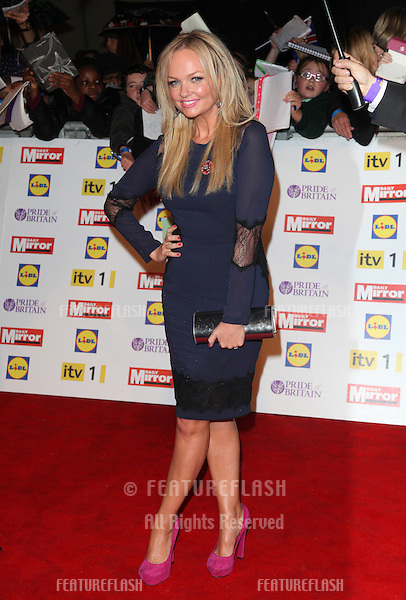 Emma Bunton arriving for the 2012 Pride of Britain Awards, at the Grosvenor House Hotel, London. 29/10/2012 Picture by: Alexandra Glen / Featureflash