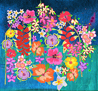Brightly coloured flowers