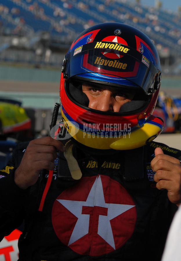 Nov. 18, 2006; Homestead, FL, USA; Nascar Busch Series driver Juan Pablo Montoya (42) during qualifying for the Ford 300 at Homestead Miami Speedway. Mandatory Credit: Mark J. Rebilas