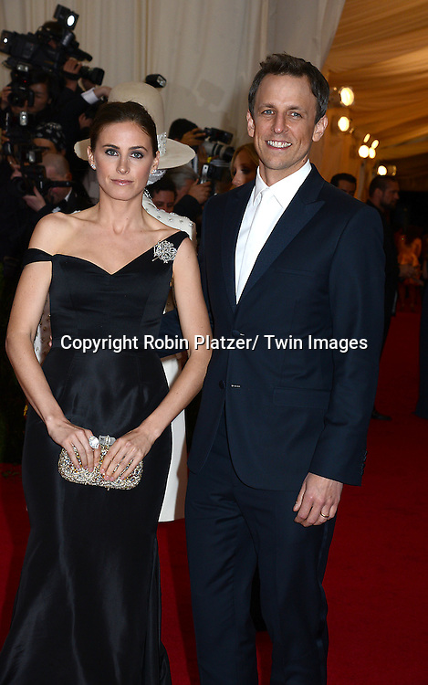 Seth Meyers and wife Alexi Ashe attends the Costume Institute Benefit on May 5, 2014 at the Metropolitan Museum of Art in New York City, NY, USA. The gala celebrated the opening of Charles James: Beyond Fashion and the new Anna Wintour Costume Center.