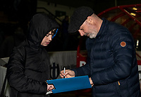 Bolton Wanderers' manager Keith Hill signs his autograph for a supporter <br /> <br /> Photographer Andrew Kearns/CameraSport<br /> <br /> The EFL Sky Bet League One - Lincoln City v Bolton Wanderers - Tuesday 14th January 2020  - LNER Stadium - Lincoln<br /> <br /> World Copyright © 2020 CameraSport. All rights reserved. 43 Linden Ave. Countesthorpe. Leicester. England. LE8 5PG - Tel: +44 (0) 116 277 4147 - admin@camerasport.com - www.camerasport.com