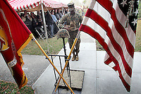 A Memorial service was held for members and family, Friday morning aboard Camp Lejeune for the 26 Combat Engineer Battalion Marines lost in combat since 2003. A memorial statue was unveiled after the service