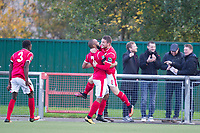Alex Read of Harlow Town celebrates scoring the opening goal during Harlow Town vs Dulwich Hamlet, Buildbase FA Trophy Football at The Harlow Arena on 11th November 2017