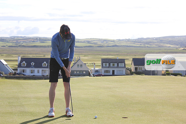 John Conroy (Bray) on the 1st green during Matchplay Round 3 of the South of Ireland Amateur Open Championship at LaHinch Golf Club on Saturday 25th July 2015.<br /> Picture:  Golffile | TJ Caffrey