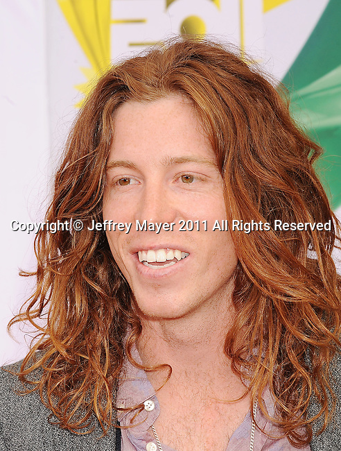 LOS ANGELES, CA - APRIL 02: Shaun White arrives at Nickelodeon's 24th Annual Kids' Choice Awards at Galen Center on April 2, 2011 in Los Angeles, California.