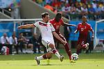 (L to R) <br /> Mats Hummels (GER), <br /> Eder (POR), <br /> JUNE 16, 2014 - Football /Soccer : <br /> 2014 FIFA World Cup Brazil <br /> Group Match -Group G- <br /> between  Germany 4-0 Portugal <br /> at Arena Fonte Nova, Salvador, Brazil. <br /> (Photo by YUTAKA/AFLO SPORT)