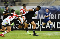 Bailyn Sullivan of New Zealand and Halatoa Vailea of Japan during the U20 World Championship match between New Zeland and Japan on May 30, 2018 in Narbonne, France. (Photo by Alexandre Dimou/Icon Sport)
