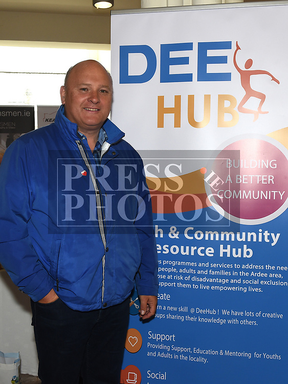 Michael McCoy from Dee Hub at the Bank of Ireland Expo held in the old church Ardee. Photo:Colin Bell/pressphotos.ie