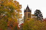 Fall colors surround the Campanile on the campus of Iowa State University in Ames, Iowa. (Christopher Gannon/Gannon Visuals)