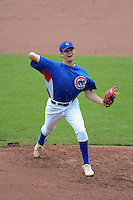 Pitcher Jonah Patten (28) of Norwell High School in Ossian, Indiana playing for the Chicago Cubs scout team during the East Coast Pro Showcase on August 2, 2013 at NBT Bank Stadium in Syracuse, New York.  (Mike Janes/Four Seam Images)