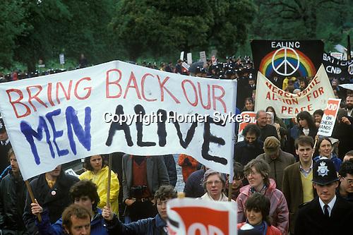 Stop Falklands War London March 1982