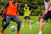 Wednesday 26 July 2017<br /> Pictured: Oliver McBurnie looks tin during training <br /> Re: Swansea City FC Training session takes place at the Fairwood Training Ground, Swansea, Wales, UK