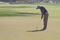 Francesco Molinari (ITA) on the 18th during the final day of  the Abu Dhabi HSBC Golf Championship, Abu Dhabi GC,Abu Dhabi,United Arab Emirates.Picture Fran Caffrey www.golffile.ie