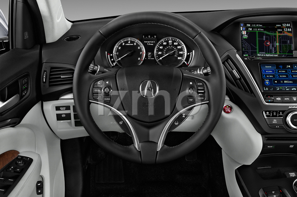 Car pictures of steering wheel view of a 2017 Acura MDX Sport Hybrid SH-AWD Advance Package 5 Door SUV