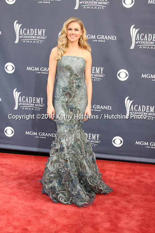 LAS VEGAS - APR 3:  Laura Bell Bundy arriving at the Academy of Country Music Awards 2011 at MGM Grand Garden Arena on April 3, 2010 in Las Vegas, NV.
