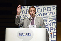 "Roma, 28 Giugno 2014<br /> Palazzo dei Congressi<br /> L'ex presidente della Camera fondatore di Alleanza Nazionale Gianfranco Fini ha lanciato oggi il suo ritorno in politica con ""Partecipa"" l'associazione di destra che vuole di coinvolgere la società civile per ""L'Italia che vorresti"" e per chiedere ""La tua idea per la destra che non c'è"".<br /> Former House Speaker Gianfranco Fini founder of the National Alliance today launched his political comeback with ""partecipa"", ""Join"", the association that seeks to involve civil society ""that Italy would like"" and to ask ""Your idea for the right that does not exist """