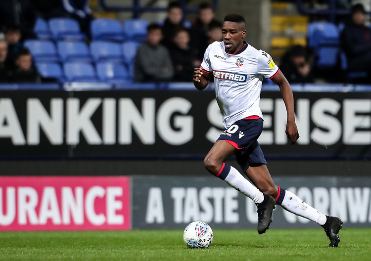 Bolton Wanderers' Sammy Ameobi <br /> <br /> Photographer Andrew Kearns/CameraSport<br /> <br /> The EFL Sky Bet Championship - Bolton Wanderers v Middlesbrough -Tuesday 9th April 2019 - University of Bolton Stadium - Bolton<br /> <br /> World Copyright © 2019 CameraSport. All rights reserved. 43 Linden Ave. Countesthorpe. Leicester. England. LE8 5PG - Tel: +44 (0) 116 277 4147 - admin@camerasport.com - www.camerasport.com
