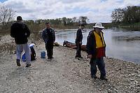 Saugeen River with George Mathewson, Dan McCaffery, Shawn Jeffords, Kevin Penhale, Jack Poirier, Glenn Ogilvie, camping, canoeing,