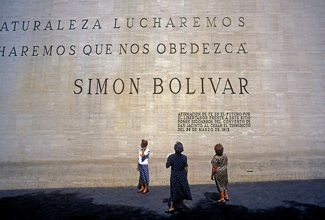 Quote by Simon Bolivar on the wall of Museo Bolivariano, Caracas, Capital District, Venezuela, South America