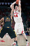 March 3, 2010: Wisconsin Badgers center J.P. Gavinski (44) handles the ball during a Big Ten Conference NCAA basketball game against the Iowa Hawkeyes at the Kohl Center on March 3, 2010 in Madison, Wisconsin. The Badgers won 67-40. (Photo by David Stluka)