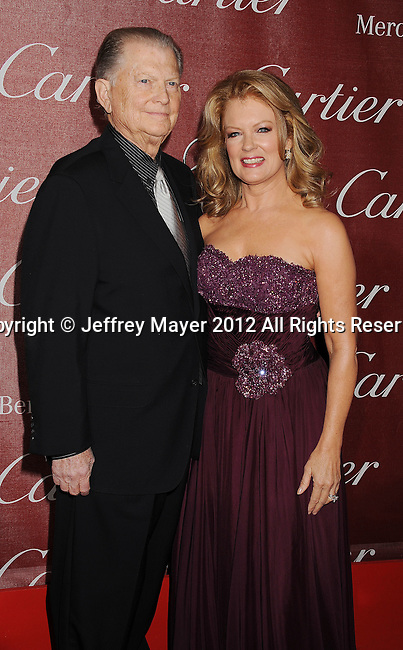 PALM SPRINGS, CA - JANUARY 07: Burt Sugarman and Mary Hart arrives at the 2012 Palm Springs Film Festival Awards Gala at the Palm Springs Convention Center on January 7, 2012 in Palm Springs, California.