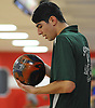 Jonathan Saloman of Seaford gets ready to roll during the Nassau County varsity boys bowling small schools championship at AMF Garden City Lanes  on Saturday, Feb. 3, 2018.