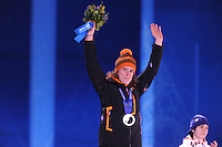 OLYMPICS: SOCHI: Medal Plaza, 19-02-2014, Ladies' 5000m, Ireen Wüst (NED), ©photo Martin de Jong
