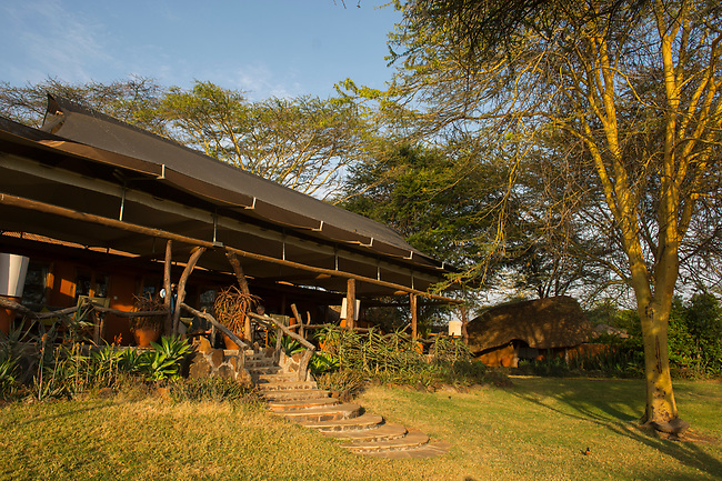 The Lewa Safari Camp in the Lewa Wildlife Conservancy in Kenya.