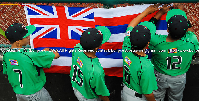 Scenes from the game between New England and the Pacific Southwest during the Cal Ripken Babe Ruth World Series in Aberdeen, Maryland on August 12, 2012. Newtown(CT) defeated Milialani(HI) 11-8.
