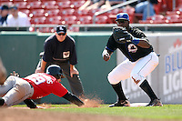 April 25, 2009:  First Baseman Michel Abreu of the Buffalo Bisons, International League Class-AAA affiliate of the New York Mets, during a game at the Coca-Cola Field in Buffalo, NY.  Photo by:  Mike Janes/Four Seam Images