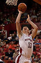 01 December 2010: Nebraska forward Brandon Ubel (13) waits to put up two and draws a foul on Jackson State forward Grant Maxey (32) in the first half at the Devaney Sports Center in Lincoln, Nebraska. Nebraska defeated Jackson State 76 to 57.