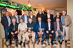 25 years on reunion of Kerry Juniors 1991 All Ireland team Front in Foley's Bar, Kenmare on Friday Night. Front L-R:<br /> Tim Brosnan, Pakie Delane, Joe Murphy, Ted Harrington, John Brendan O'Brien, Patrick Griffen<br /> Back L-R:<br /> Kieran Moran, Thomas Harrington, Massie O'Donnell (Trainer), Dan Keane, Fintan Ashe, John Kennedy, Jeremiah O'Shea, Tom Connox (Trainer)