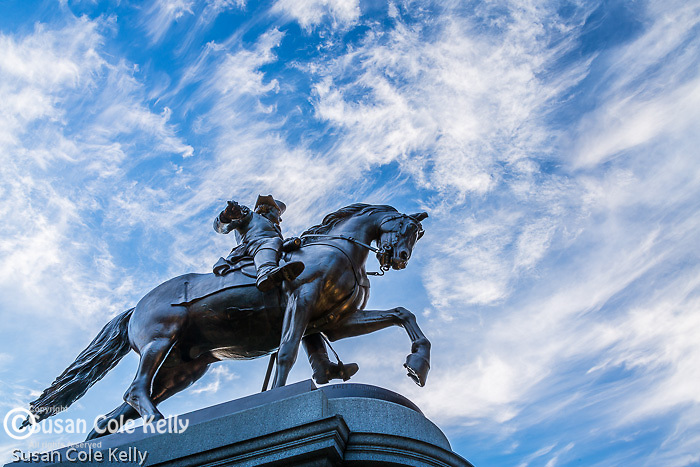 The George Washington statue by Thomas Ball (public domain) in the Boston Public Garden, Boston, Massachusetts, USA