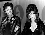 Alice Cooper1984 with Elvira at Grammy Awards.© Chris Walter.