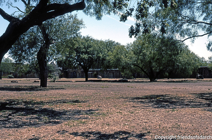 Texas: San Antonio--Mission San Jose perimeter walls. The center of an extensive agricultural domain based upon irrigation.