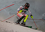 Alexis Pinturault in action during the Men's Slalom of the Super Combination of the Alpine FIS Ski World Cup on 23/01/2015 in Kitzbuehel, Austria.