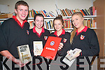 Students at Meanscoil an Leith-Truigh in Castlegregory are hoping to read as many books as possible in the coming weeks as part of the MS Readathon taking place in the school to promote literature and reading. .L-R Sean O'Beaglaoi, Siobhan Goodwin,  Caoilfhionn Culliane and Claire Maunsell .