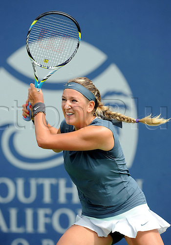 31.07.2013.la Costa Country Club, Carlsbad, California, USA.  Victoria Azarenka (BLR) during a match against Francesca Schiavone (ITA) during the Southern California Open played at the La Costa Resort & Spa in Carlsbad CA.