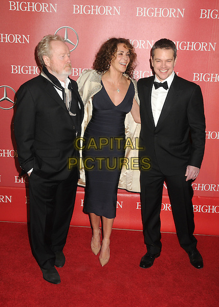 2 January 2016 - Palm Springs, California - Ridley Scott, Giannina Facio, Matt Damon. 27th Annual Palm Springs International Film Festival Awards Gala held at the Palm Springs Convention Center.  <br /> CAP/ADM/BP<br /> &copy;BP/ADM/Capital Pictures