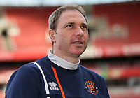 Blackpool U18's Professional Development Phase Coach John Murphy<br /> <br /> Photographer Andrew Kearns/CameraSport<br /> <br /> Emirates FA Youth Cup Semi- Final Second Leg - Arsenal U18 v Blackpool U18 - Monday 16th April 2018 - Emirates Stadium - London<br />  <br /> World Copyright &copy; 2018 CameraSport. All rights reserved. 43 Linden Ave. Countesthorpe. Leicester. England. LE8 5PG - Tel: +44 (0) 116 277 4147 - admin@camerasport.com - www.camerasport.com