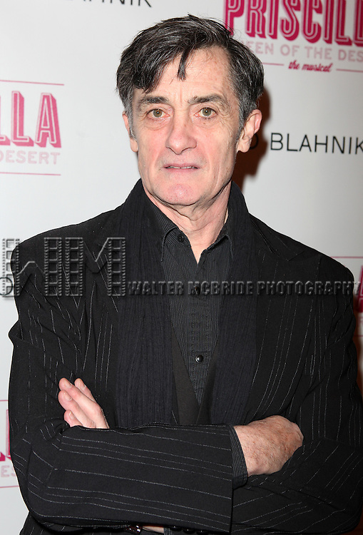 Roger Rees .attending the Broadway opening Night Performance of 'Priscilla Queen of the Desert - The Musical' at the Palace Theatre in New York City.