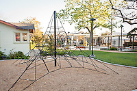 Glendale Heritage Garden, city park with children rope climbing structure playground